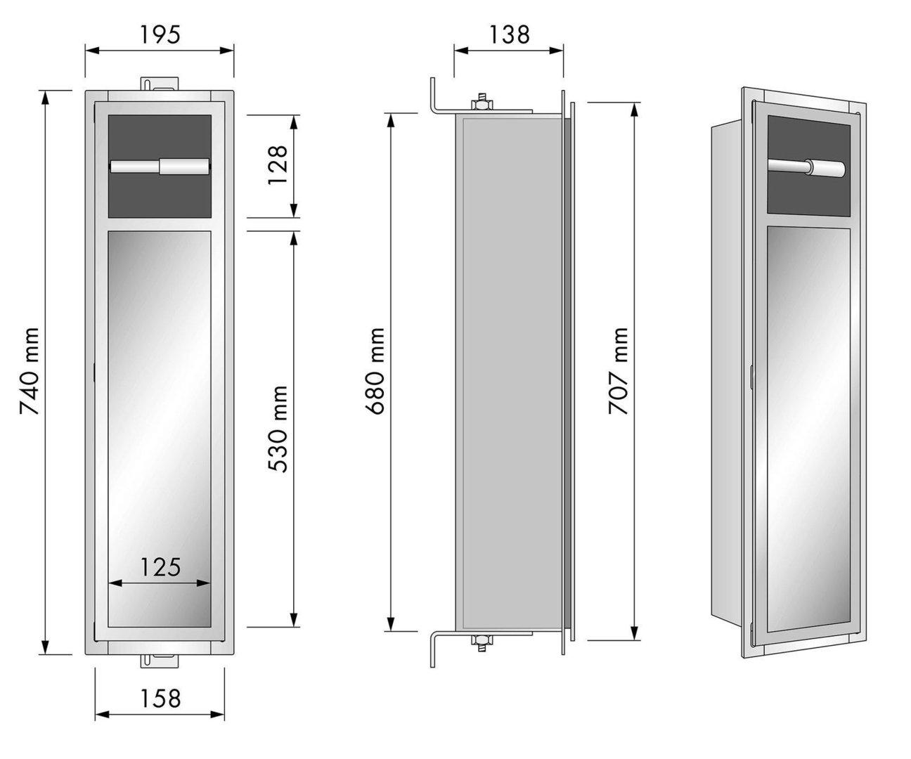 Bevorzugt ESS Container Bürsten & Papierhalter TCL-7 . Flie-San GmbH WebShop ZY49